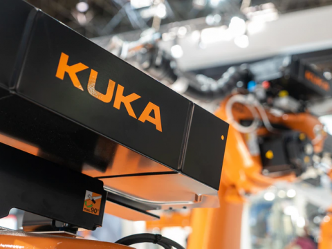 A robot manufactured by KUKA