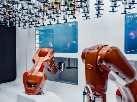 robots working in a factory