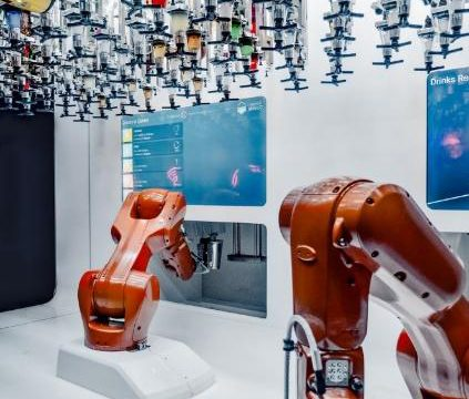 Robots deployed to carry out work in a factory
