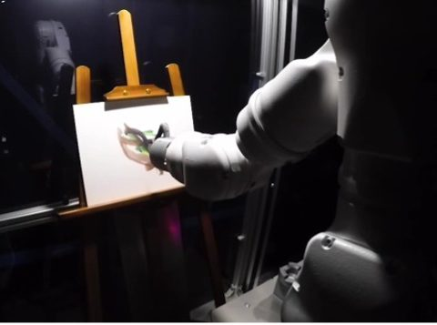 IN JAPAN, WORK IS UNDERWAY ON A ROBOT WITH ARTIFICIAL INTELLIGENCE TO DEVELOP CREATIVE FUNCTIONS IN THE FINE ARTS.